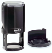 "Trodat 4642 - Round self-inking stamp with popular 1-5/8"" diameter. Customized with your design and a variety of ink colors."