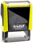 Trodat Printy 4911 Neon Yellow Self-Inking Stamp