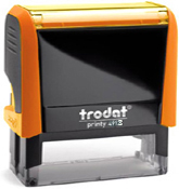 Trodat Printy 4913 Neon Orange Self-Inking Stamp