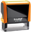 4913ON - Trodat Printy 4913 Neon Orange Self-Inking Stamp