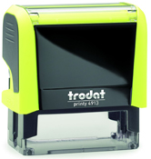 Trodat Printy 4913 Neon Yellow Self-Inking Stamp