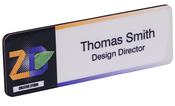 "Dye Sub 1""x3"" Full Color Name Badge"