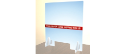 "COUNTER TOP ACRYLIC SHIELD 28"" X 30"" for distancing and customer safety"