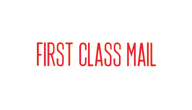 SHA1129 - SHA1129 - Stock Stamp - FIRST CLASS MAIL