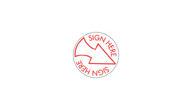 SHA11425 - SHA11425 - Stock Specialty Stamp - SIGN HERE