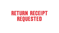 SHA1504 - SHA1504 - Stock Stamp - RETURN RECEIPT REQUESTED