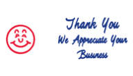 SHA3287 - SHA3287 - Jumbo Stock Stamp - THANK YOU WE APPRECIATE YOUR BUSINESS