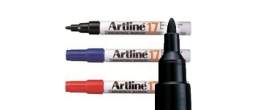 Artline EK-17 Industrial Marker - 1.5mm Bullet Tip, black, red, blue