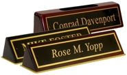 Piano Finish Easel Desk Sign
