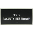 ADAF412 - Custom Framed ADA Signage 4x12