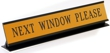Laser engraved name plates in a variety of color options with attractive, raised display stand.