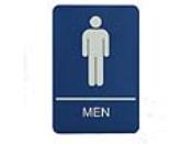 WADAM - Molded ADA Signage 6x9 Men
