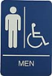 WADAMH - Molded ADA Signage 6x9 Men Handicap