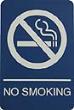 WADANS - Molded ADA Signage 6x9 No Smoking