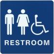 WADAUH - Molded ADA Signage 6x9 Unisex Handicap