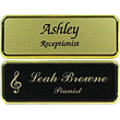 "NB-FR1-EN - NB-FR1-EN - Framed Name Badge, Engraved, 1-2 lines of text and optional logo, 1"" x 3"""