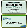 "NB-FR1.5-MC - NB-FR1.5-MC - Framed Name Badge, Multi-Color, 1-3 lines of text and optional logo, 1-1/2"" x 3"""
