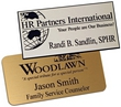 Standard name badge with engraved logo and text.