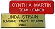 """NBN13 - Standard Engraved Name Badge Text Only 1""""x3"""""""