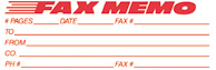 SHA3243 - SHA3243 - Jumbo Stock Stamp - FAX MEMO