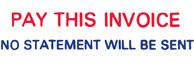 SHA3284 - SHA3284 - Jumbo Stock Stamp - PAY THIS INVOICE NO STATEMENT WILL BE SENT