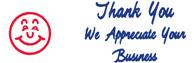 SHA3287 - SHA3287 - Jumbo Stock Stamp - THANK YOU WE APPRECIATE YOUR BUSINESS
