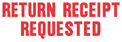 SHA1504 - SHA1504 - Stock Stamp - RETURN RECEIPT REQUESTED
